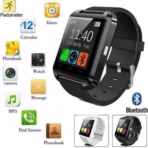 a82b16d7485 Relógio Bluetooth Smart Watch U8 Android Iphone 5 6 S5 - R  75