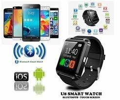 482c45e7907 Relogio Bluetooth Smart Watch U8 Android Iphone 5 6 S5 Preto - R  88 ...