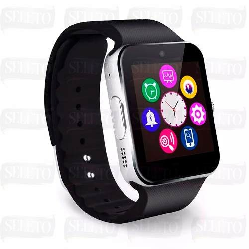 823df2f0c77 Relogio Bluetooth Smart Watch U8 Android Iphone 5 6 S5 Preto - R ...