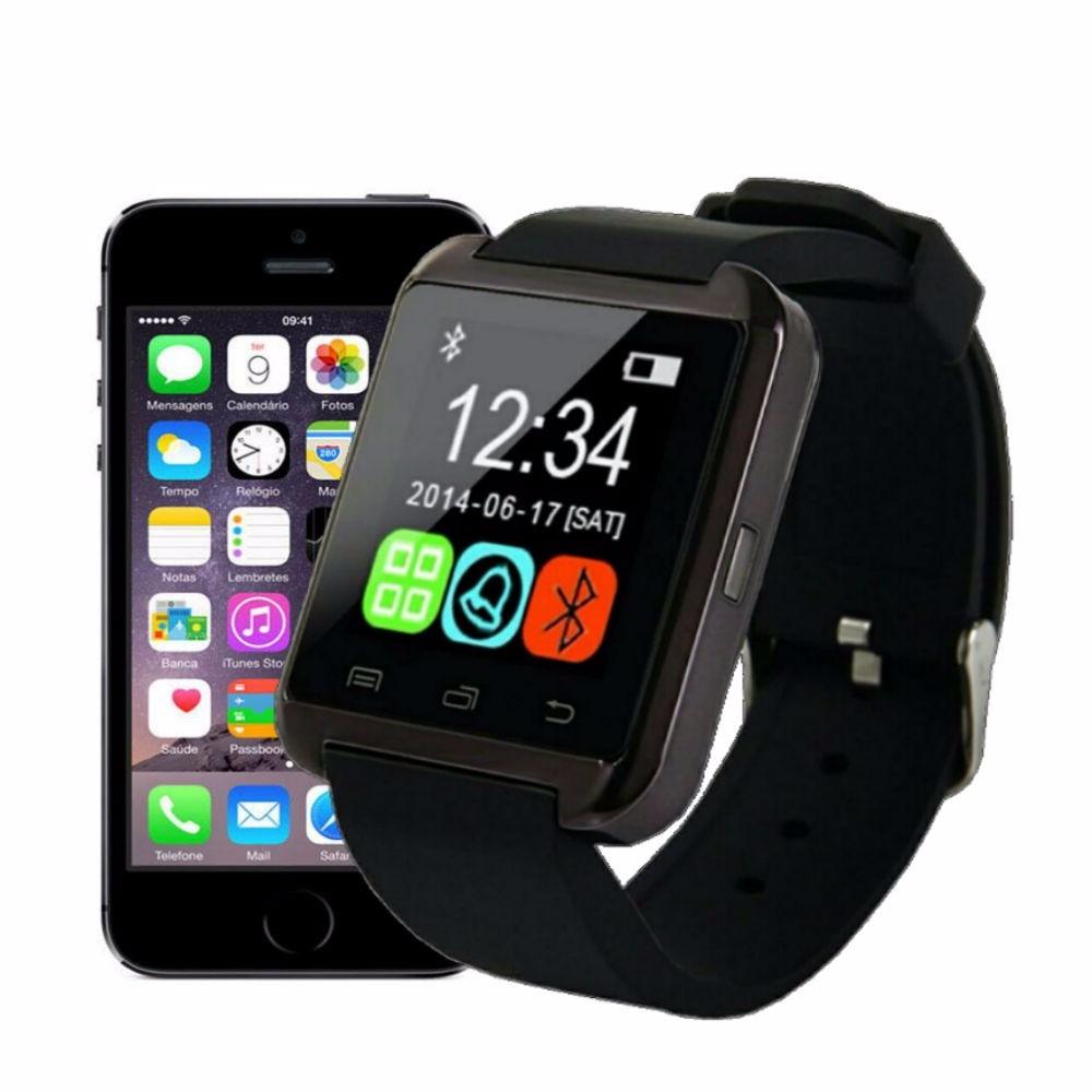 7184ef832d6 relogio bluetooth u8 smart watch android iphone 5 6 s5 note. Carregando  zoom.
