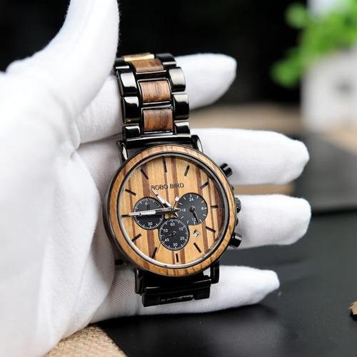 relógio bobo bird p09-1 madeira original na caixa
