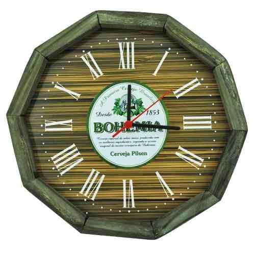 relogio bohemia madeira pinus area de lazer