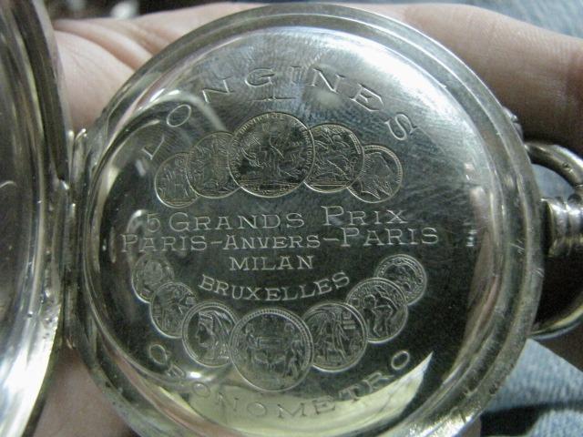 de35dc3b4f3 Antigo Relógio De Bolso Longines 5 Grands Prix  1232 - R  1.100