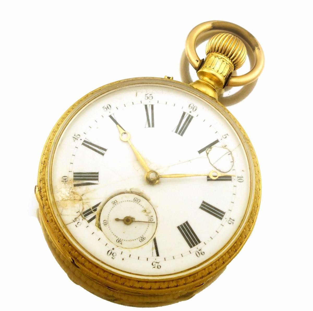 8e0f0ca576e Relógio Bolso Pateck   Cº Geneve (patek) Em Ouro 18k J12636 - R ...