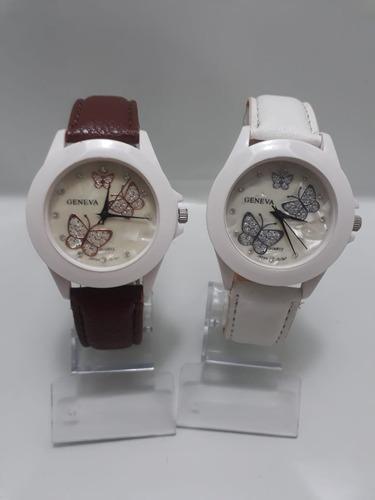 relógio borboleta feminino pulseira de couro veja o vídeo