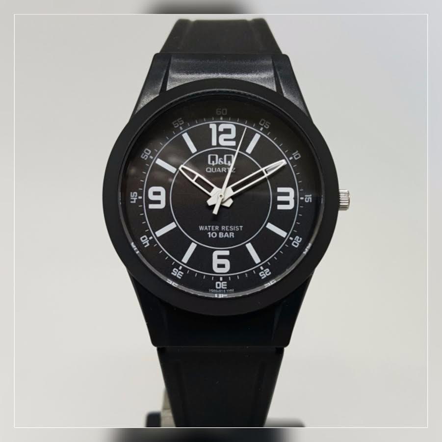f46fae9bc1e relógio borracha feminino masculino tamanho médio preto q q. Carregando zoom .