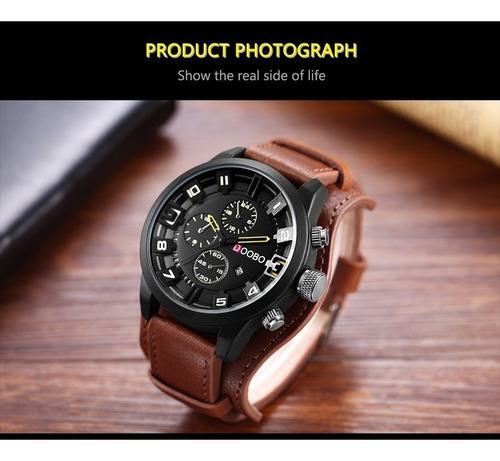relógio  bracelete masculino pulseira de couro punk gótico