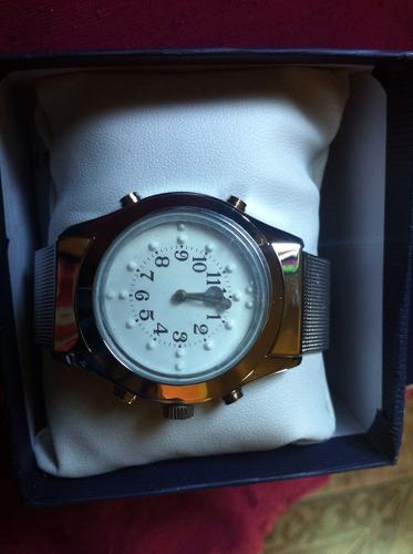 relógio braille pulseira de aço para cegos