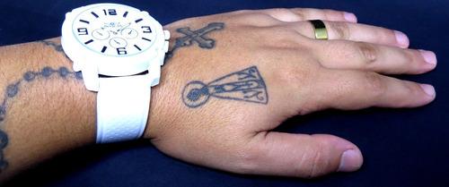 relógio branco masculino várias cores na caixa liquidação!!!