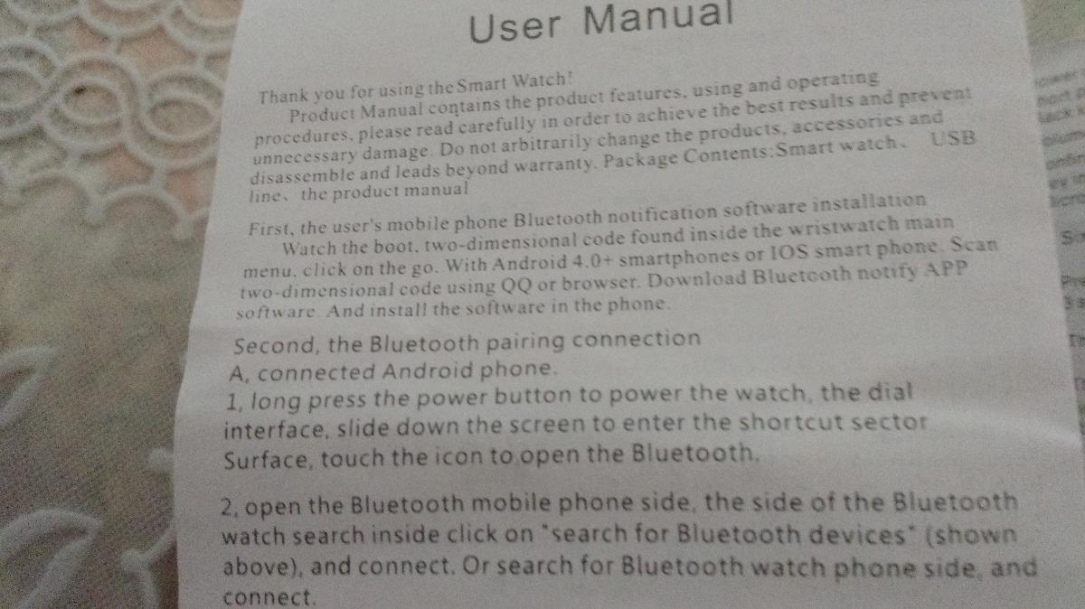 Relógio Branco Smart Watch Touch Screen V8 Pronta Entrega
