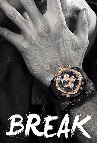 e827d7c6f3d Relógio Break Lançamento Moda Atual Todo Funcional - R  249