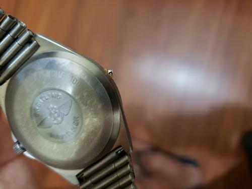 relógio breitling aerospace titanium e ouro 40 mm digital