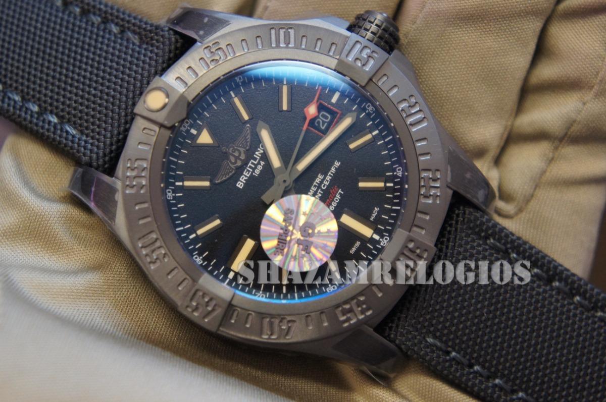 7a43817f789 Relogio Breitling Avenger Black Bird Dlc Titanium 42mm Azul - R ...