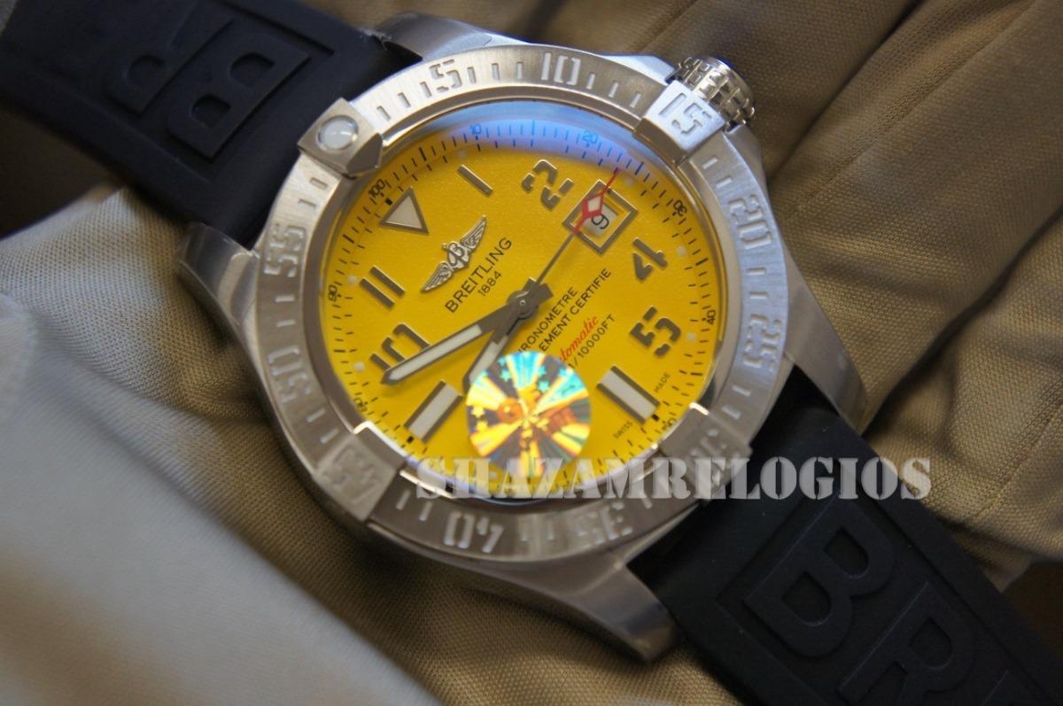 edca893a066 relogio breitling avenger ii seawolf gf 45mm amarelo. Carregando zoom.
