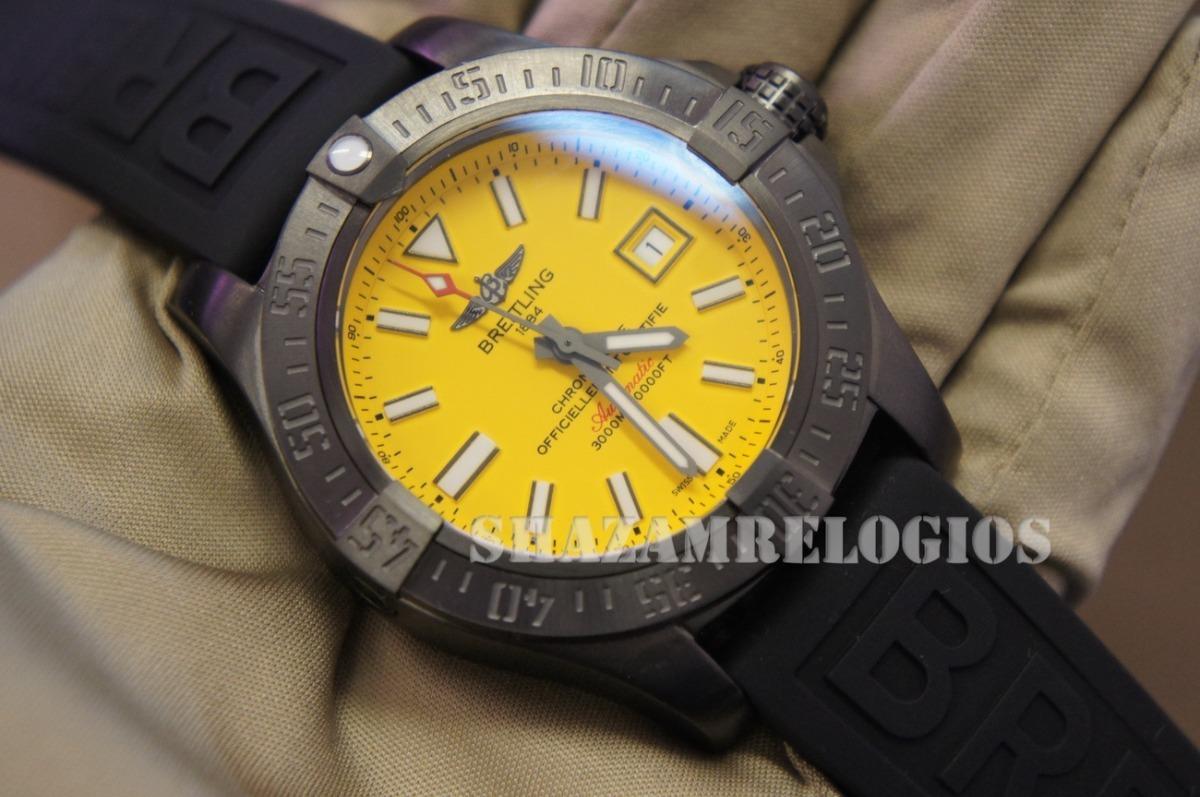 fa51c02b4e2 relogio breitling avenger seawolf 2 amarelo. Carregando zoom.