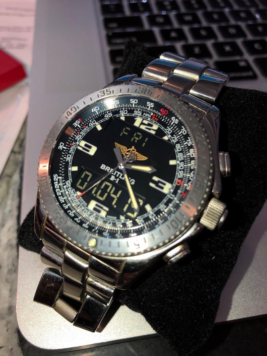 882cbef420d relógio breitling b1 1884. Carregando zoom.