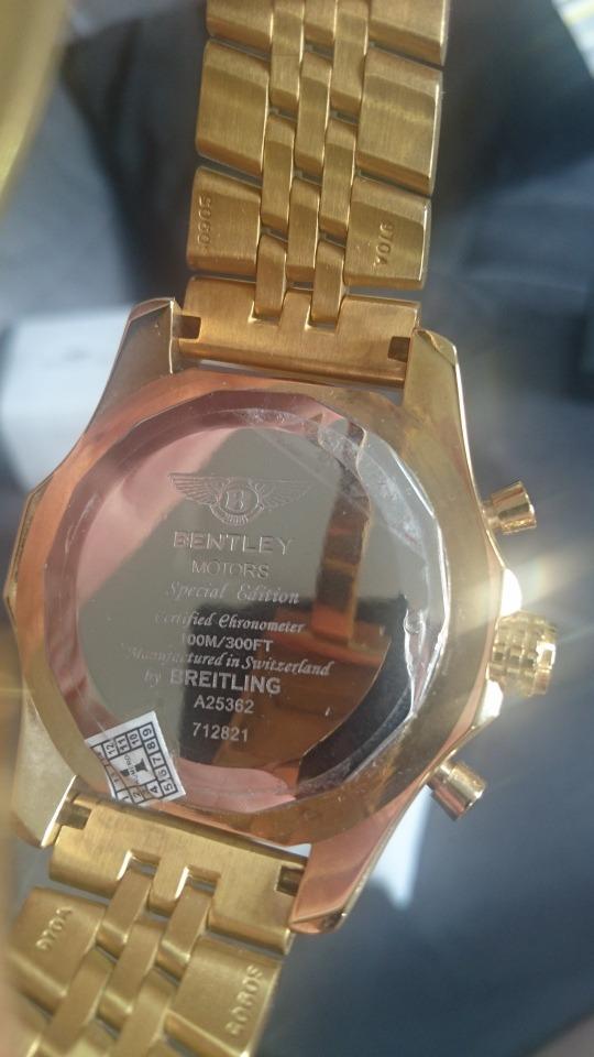 7aab2d079dd relógio breitling bentley automático 1884 dourado branco. Carregando zoom.