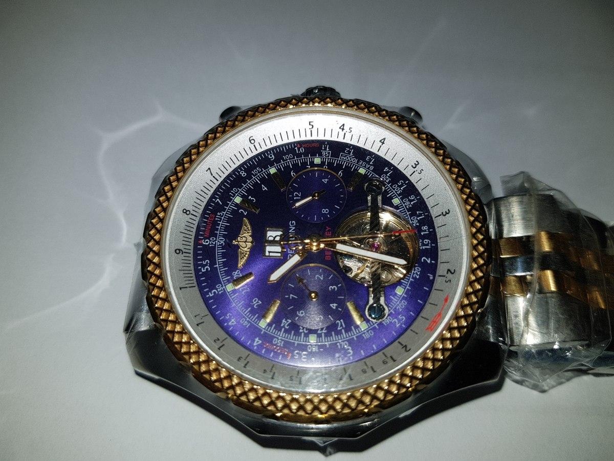 37dc70a1b7b relogio breitling bentley automatico safira fundo azul top. Carregando zoom.