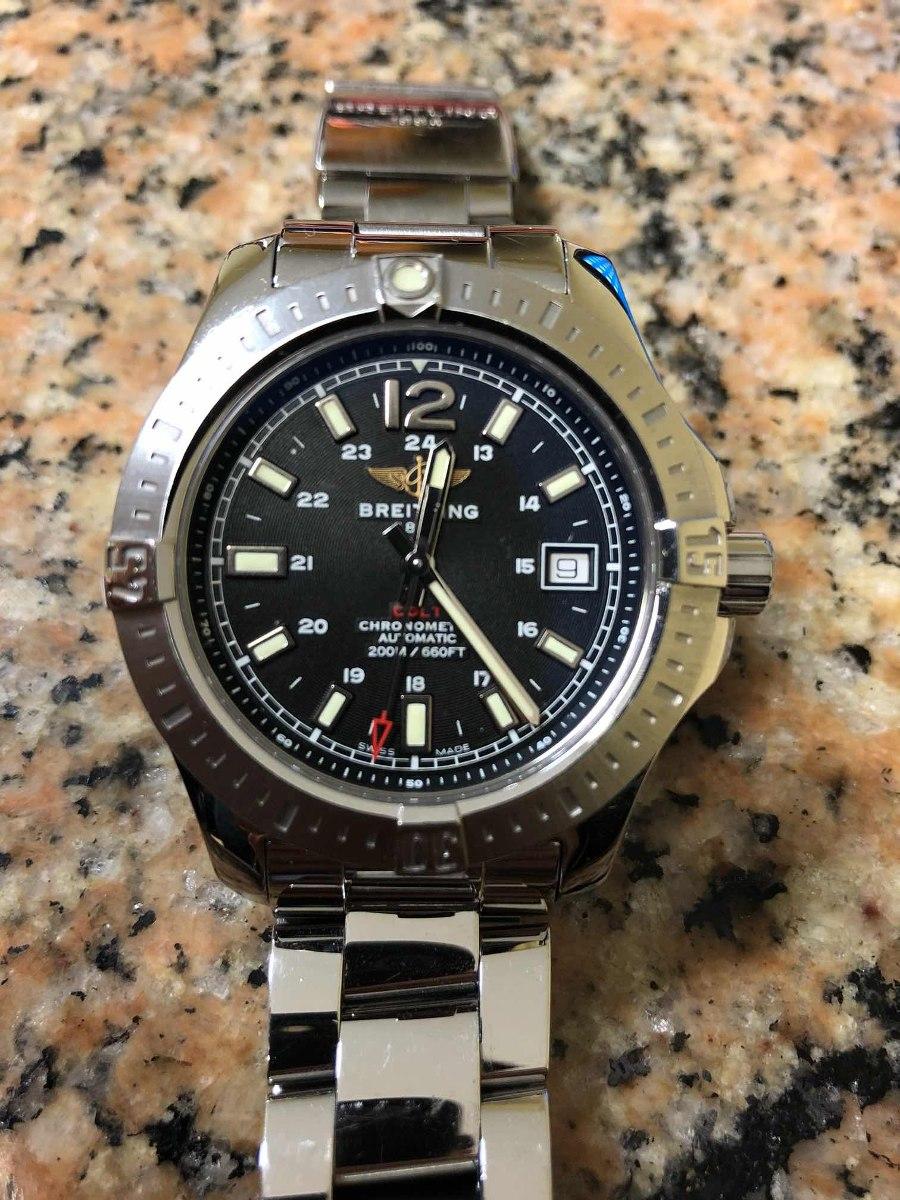 cbc22e0d254 Relógio Breitling Colt Automático Seminovo Com Garantia! - R  9.799 ...