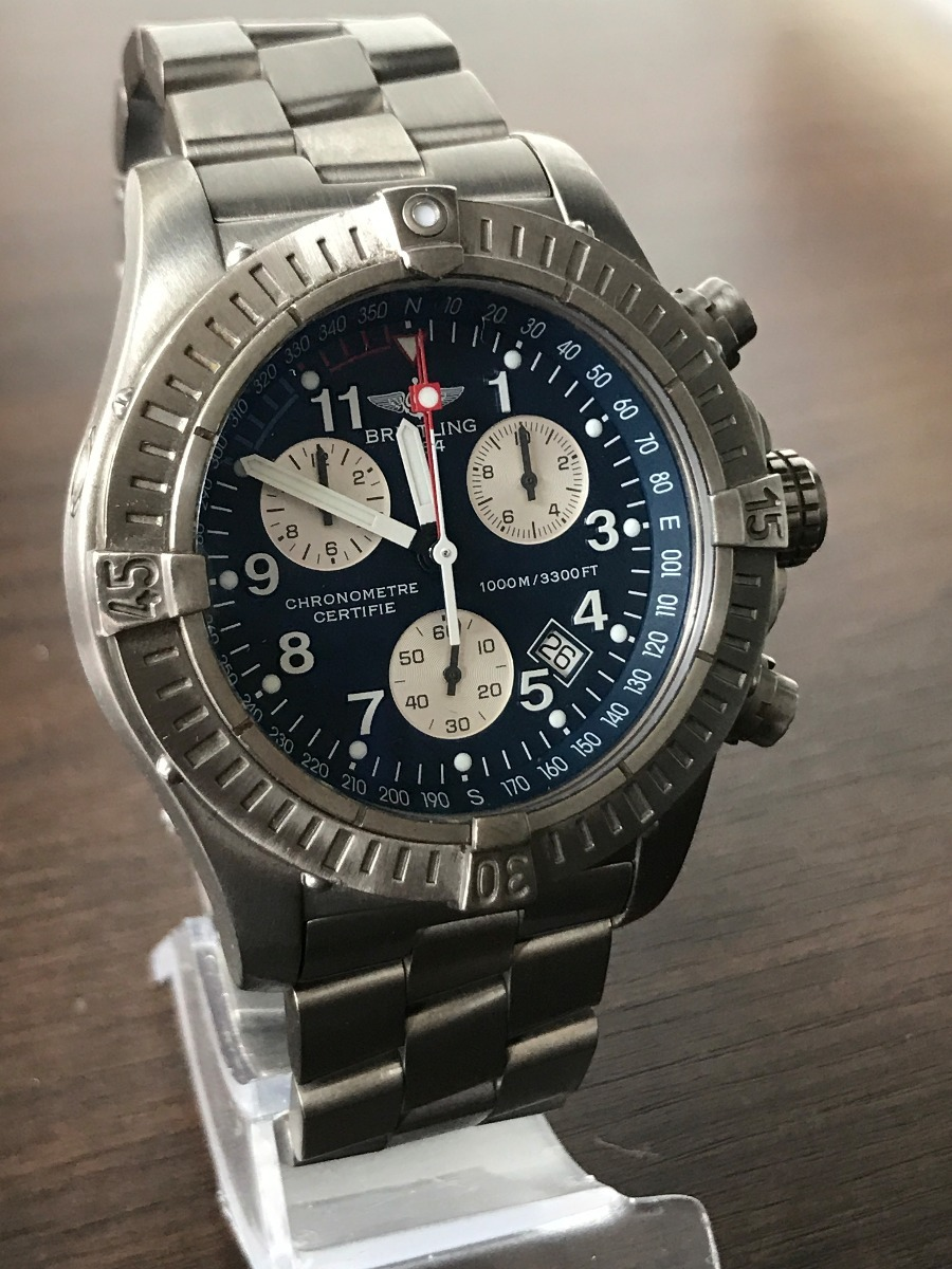 645ff59b9bf Relógio Breitling Super Avenger M1 - Superquartz - R  7.750