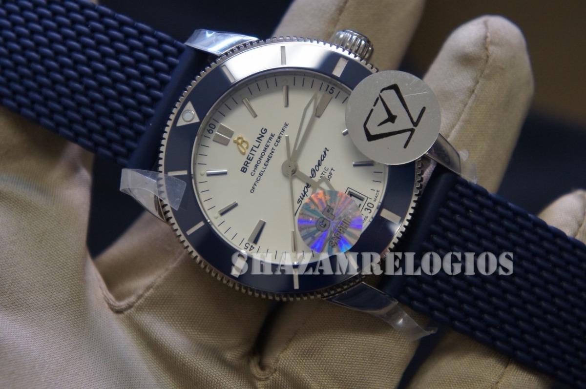 6cb1fa6513f Relogio Breitling Super Ocean Heritage Ii Azul Gf - R  2.685