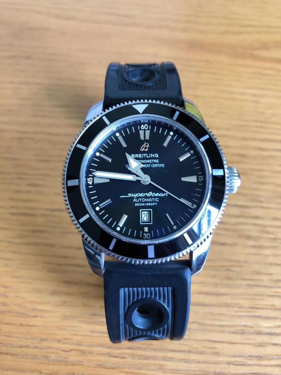 2bb32376cad relógio breitling superocean heritage 46. Carregando zoom.