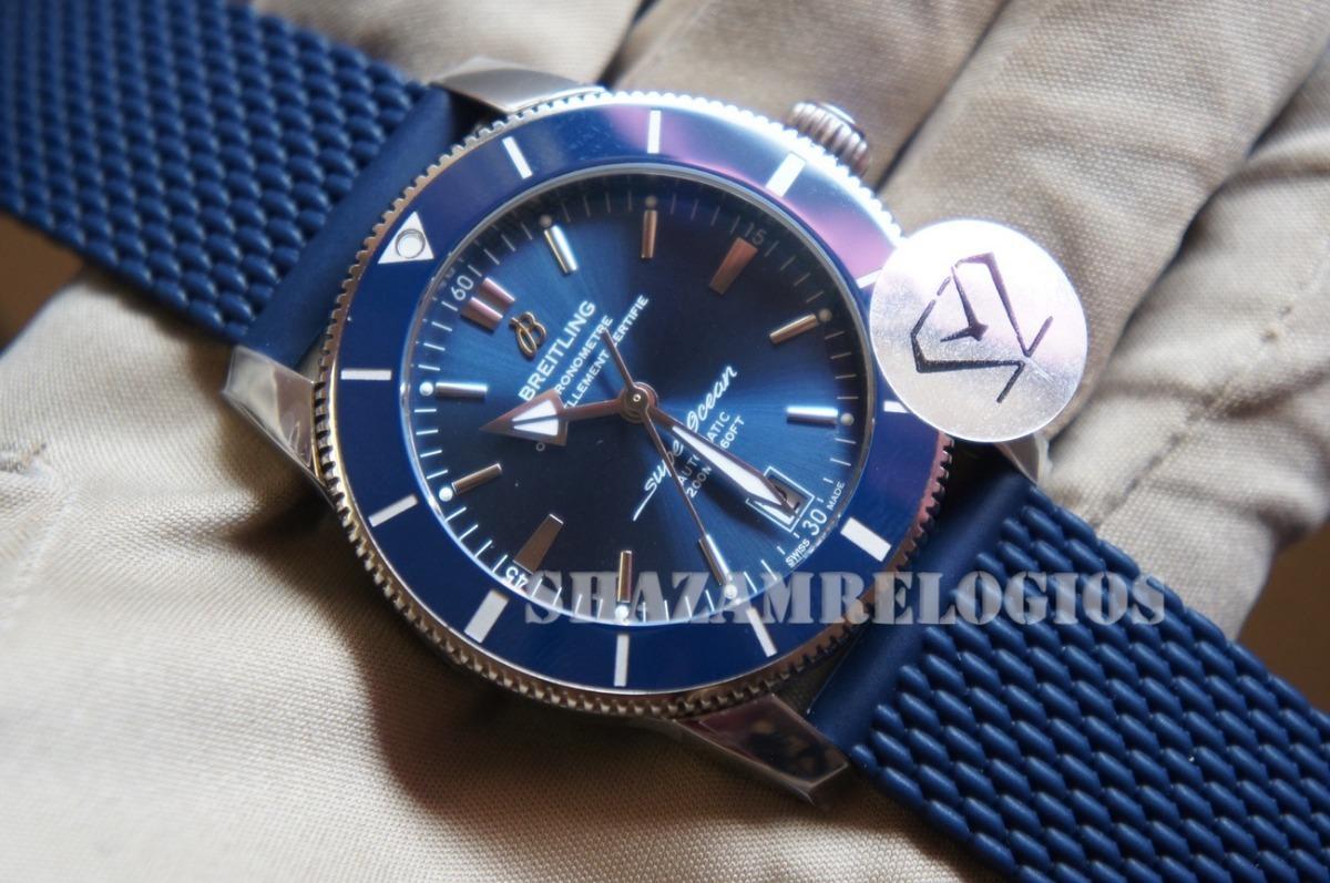 8fb9605e6f9 Relogio Breitling Superocean Heritage Ii Azul 42mm Eta - R  2.785