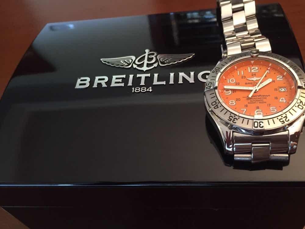 af291f082ed relógio breitling superocean original automático. Carregando zoom.