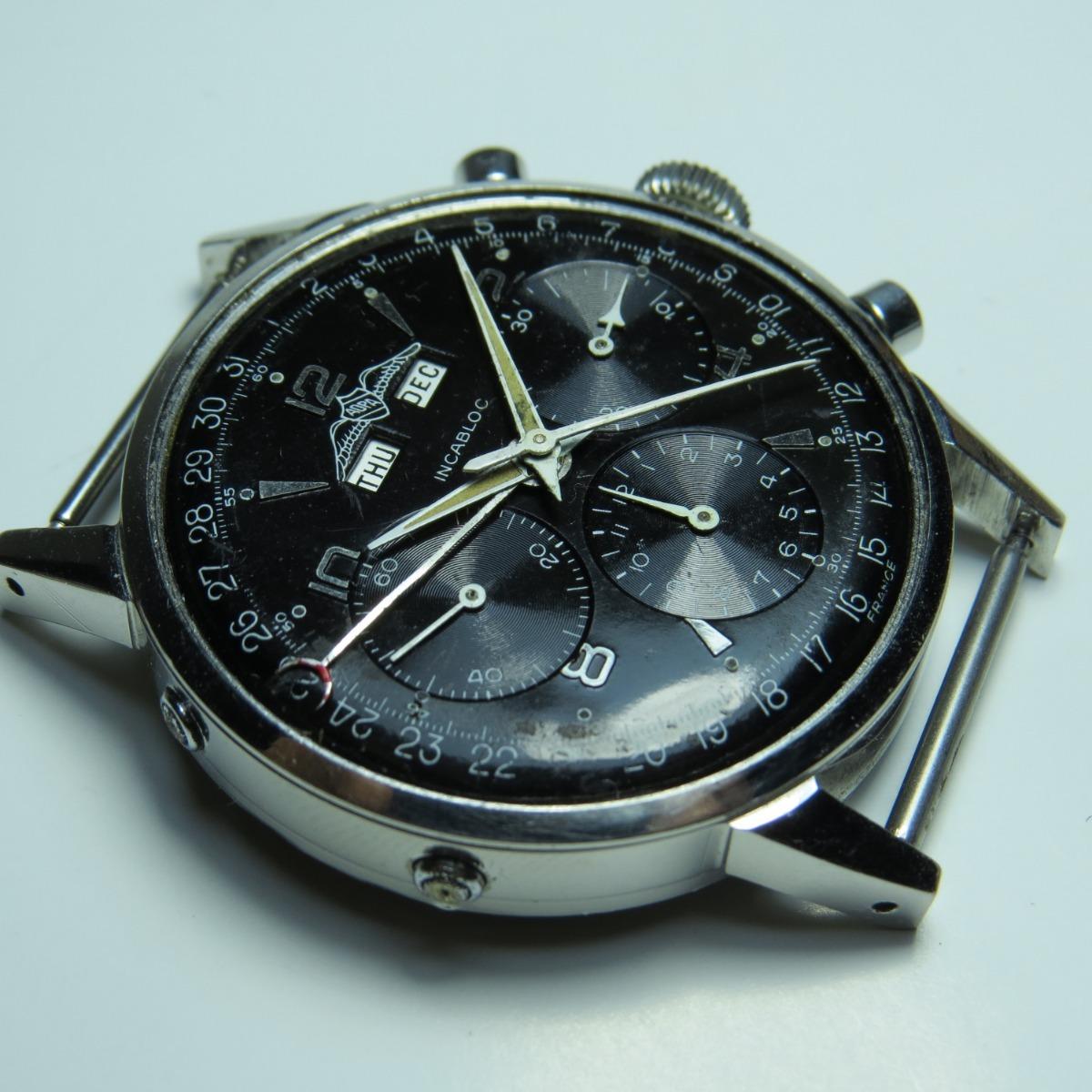 e2f686f5b62 Relógio Breitling Wakmann Valjoux 72 Militar Crono Pilot Aço - R ...