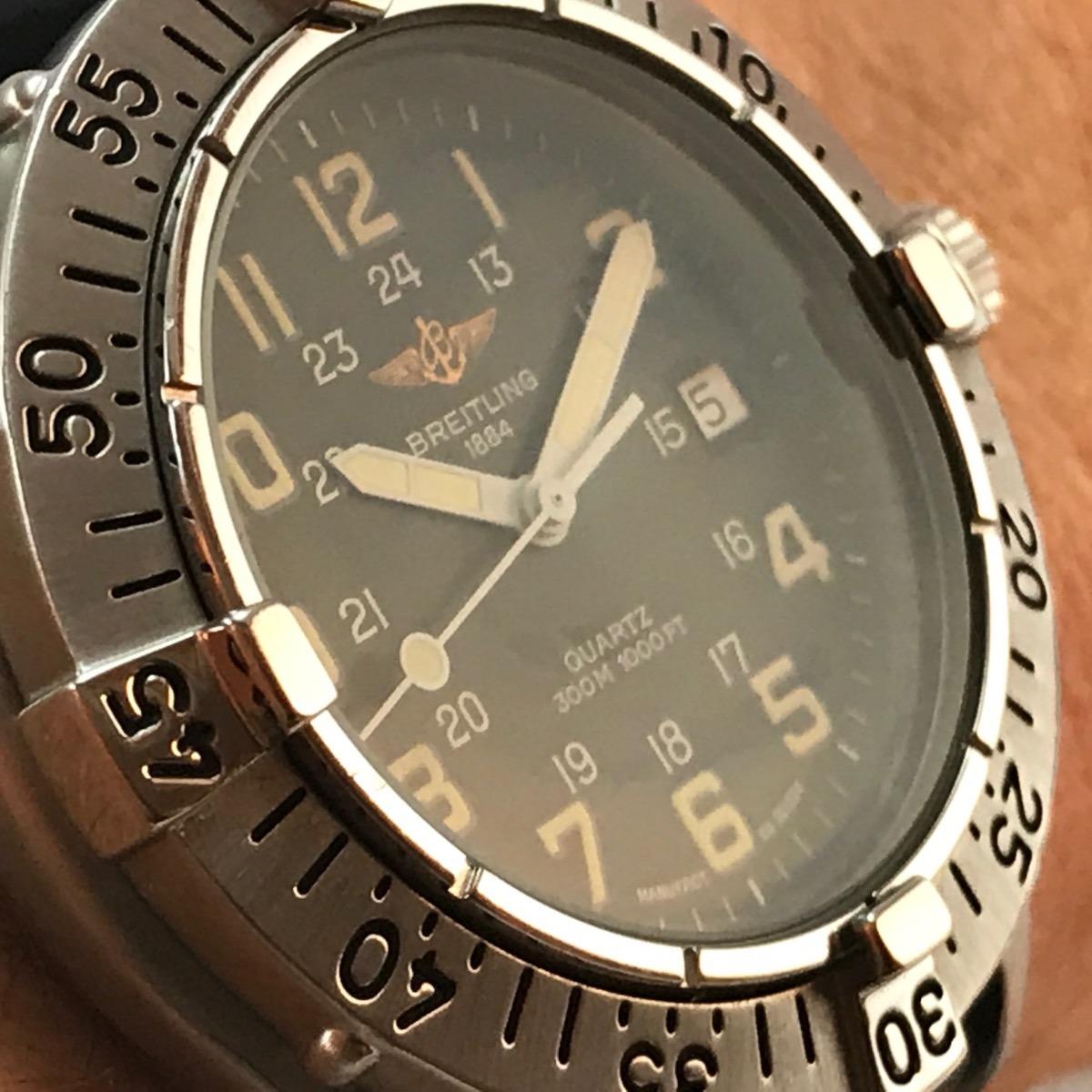 a774b8075cb Relógio Brietling Colt Diver 300 Mts - R  3.478
