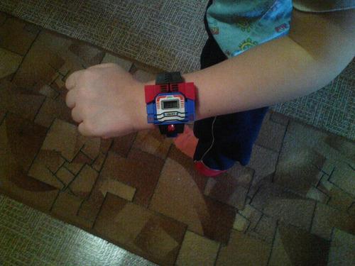 relógio brinquedo robô transformers menino criança presente