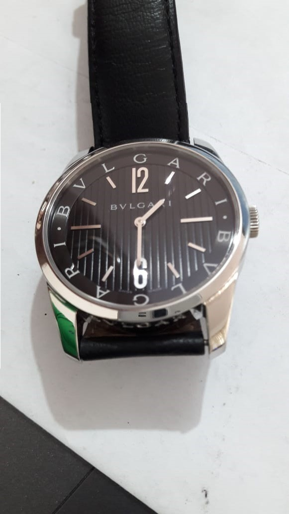 23cb1e9af50 Relógio Bulgari Bvlgari Solotempo Couro De R  12000