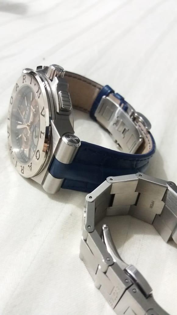 2885326ac99 Relógio Bulgari Calibro 303 Ouro Branco Duas Pulseiras - R  29.000 ...