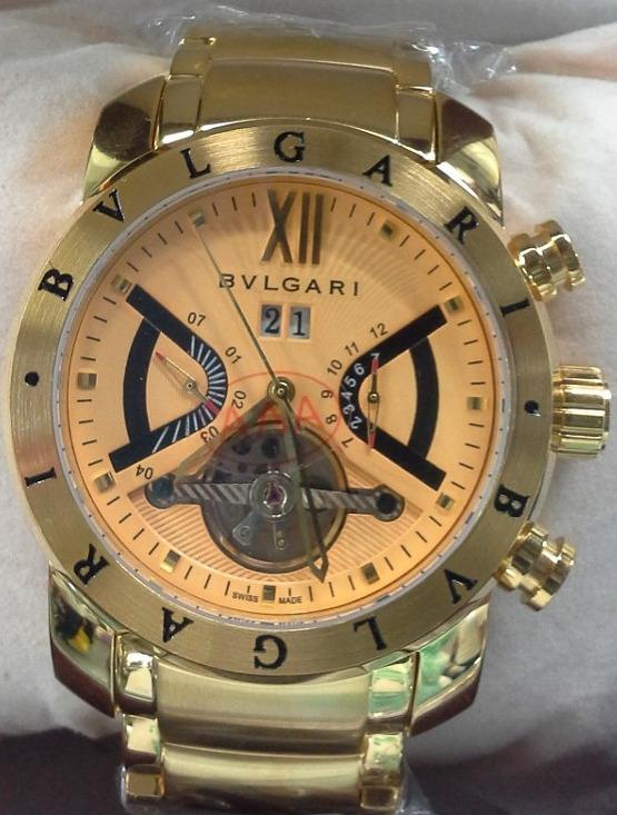 2085780a792 Relogio Bulgari Iron Man Dourado Automático Promoção Barato - R  449 ...