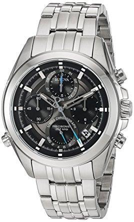 relógio bulova 96b260 precisionist aço cronografo original