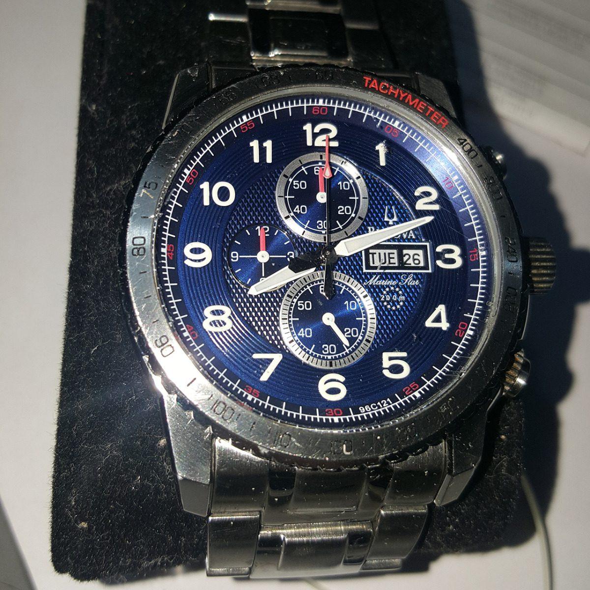 ba3308e4763 relógio bulova 96c121 marine star masculino cronografo. Carregando zoom.