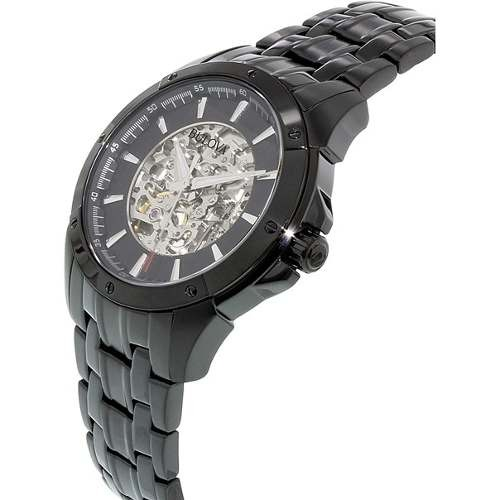ba268aace07 Relógio Bulova 98a147 Automatico Skeleton Black Linha 2016 - R ...