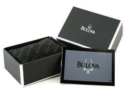 relógio bulova 98e112 diamond collection misto slim unissex