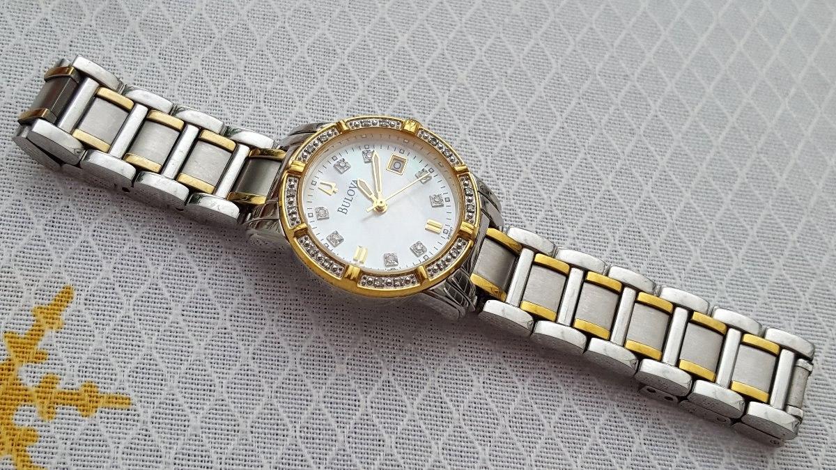 a1301fbc930 Relógio Bulova 98r107 Visor Perolizado