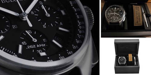 relógio bulova apollo lunar 96b251 edição limitada