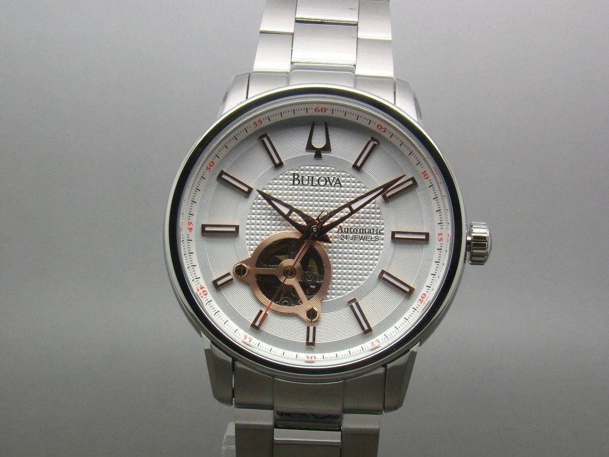 8c19dd95157 relógio bulova automatic 21 jewels wb22088q 96a143. Carregando zoom.