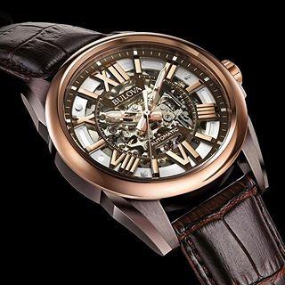 a467dd1b404 Relógio Bulova Automático Esqueleto Masculino Wb31998m - R  2.089
