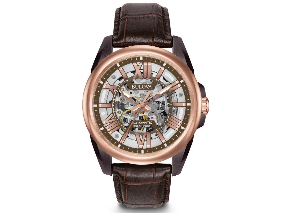 f6f4066221e relógio bulova automático esqueleto masculino wb31998m. Carregando zoom.