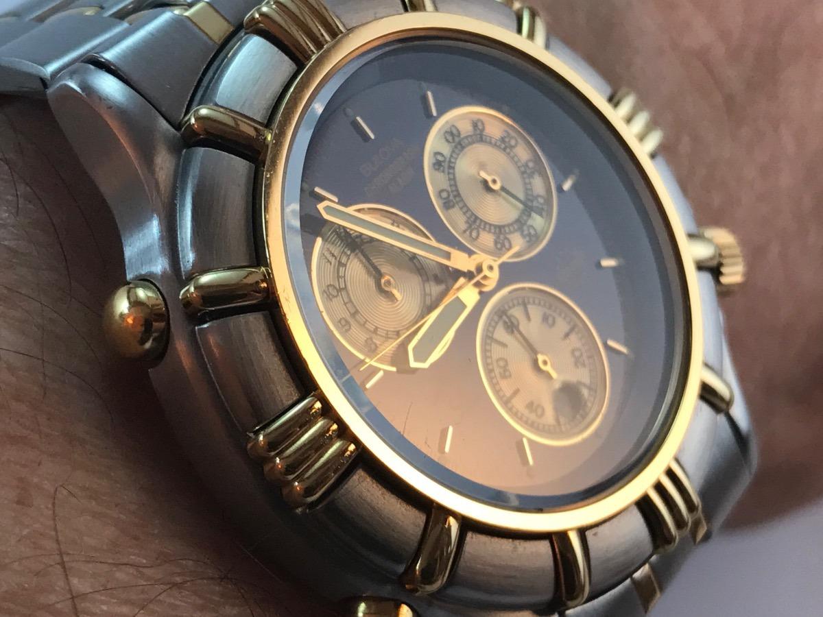 08be6693d0a Relógio Bulova Cronograph Alarm Blue Marine Star Vintage - R  799
