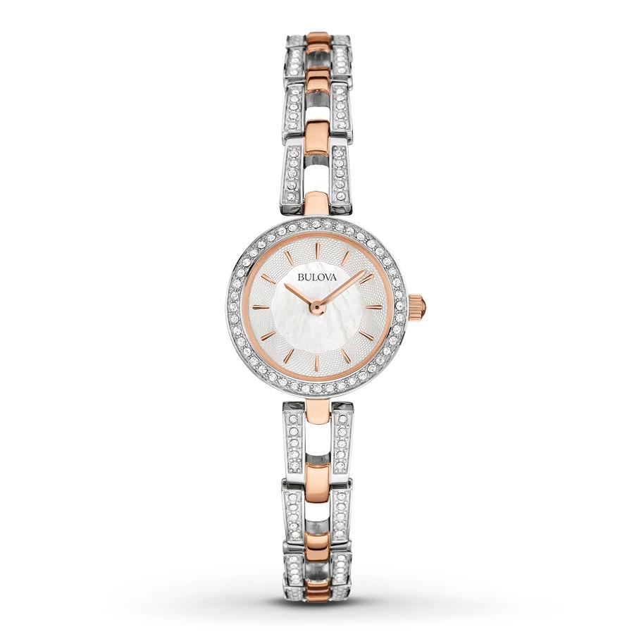 aadb133163a relógio bulova crystal 98l212 feminino. Carregando zoom.