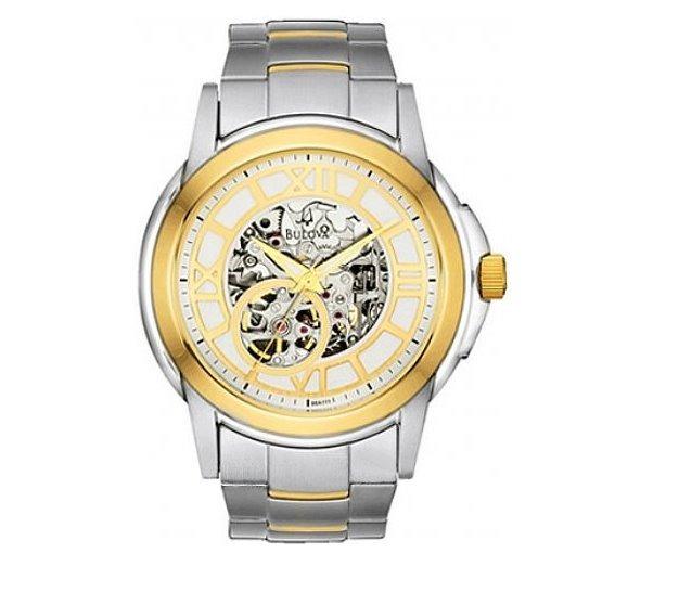 a1fa92f3738 Relógio Bulova Esqueleto Automático Wb21392s - R  2.099