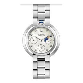 Relógio Bulova Feminino Rubaiyat Aço Prata 96p213