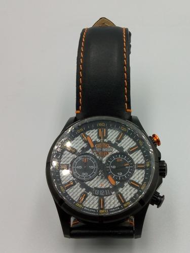 relógio bulova - harley davidson  pulseira couro - quartz