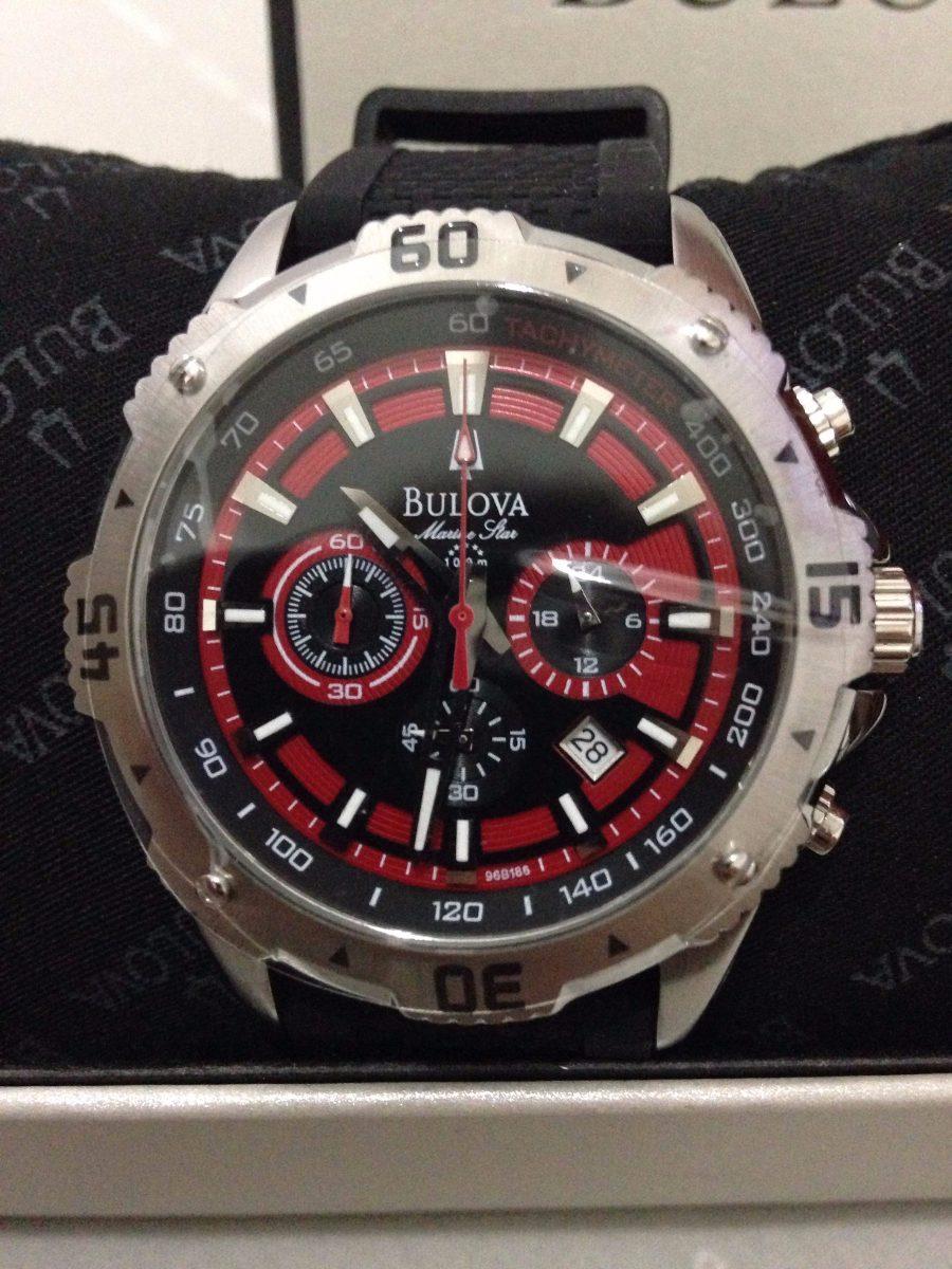 624d38e86f1 relógio bulova luxo marine star 96b186 original na caixa. Carregando zoom.