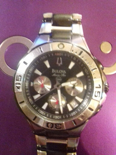 relógio bulova marine star colection 98b013 original